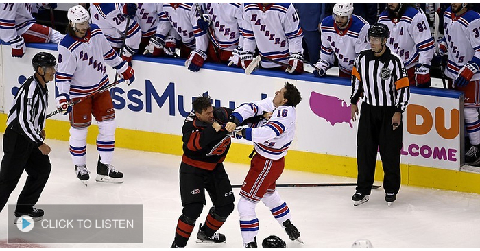Justin Williams on his bout with Strome, their sweep of the Rangers & life inside the NHL bubble